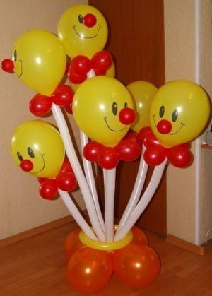 """Фигура """"Клоуны в вазе"""" 7шт."""