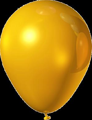 """Желтый латексный шар (металлик) 12"""""""