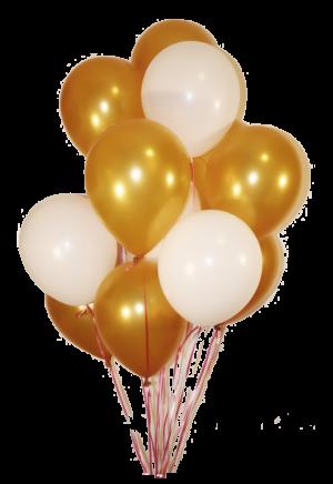 Облако из 20 золотисто-белых латексных шаров.