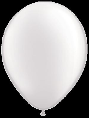 """Белый латексный шар (металлик) 12"""""""